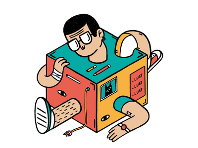 Human Box illustration