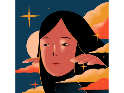 Over the moon✨ illustrations