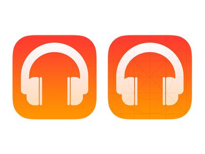 Headphone iOS 7 Icon