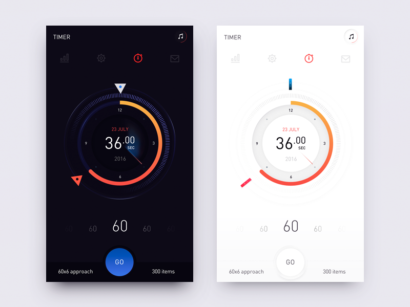 Training - сoncept concept time training qperson 7hp ios red blue mobile design ux ui