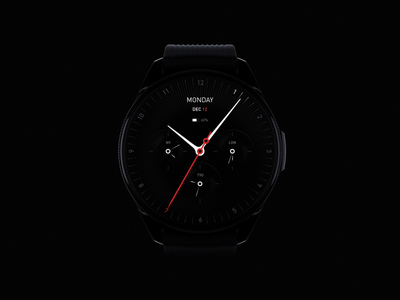Watch UI watchface music lights smart calendar details car tools motion date clock bubbles 3d animation ai interface watch design ux ui