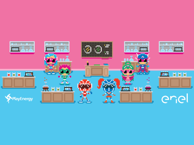 PlayEnergy 2017 | Enel theoluk videogames retrogames pixelart pixel art school kit heroes super heroes school project playenergy enel