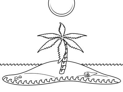 Island Coloring Book Crop