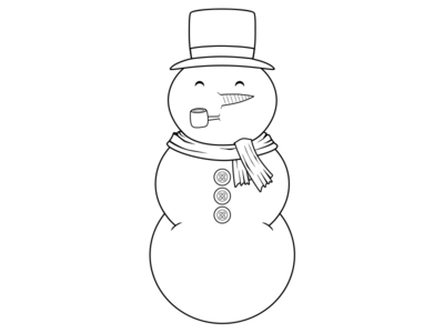 Dribbble Snowman Coloing Book