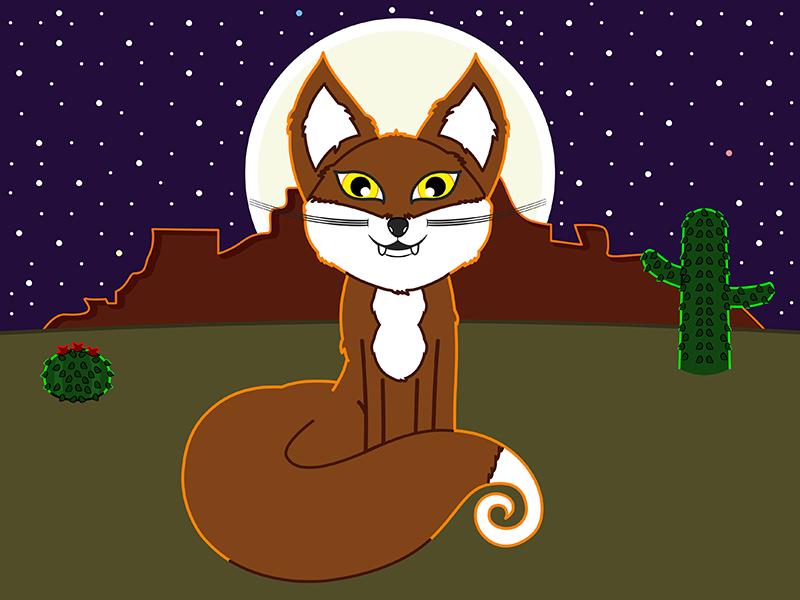 Fox Adventure Colored Dribbble vector cartoon fox coloring book