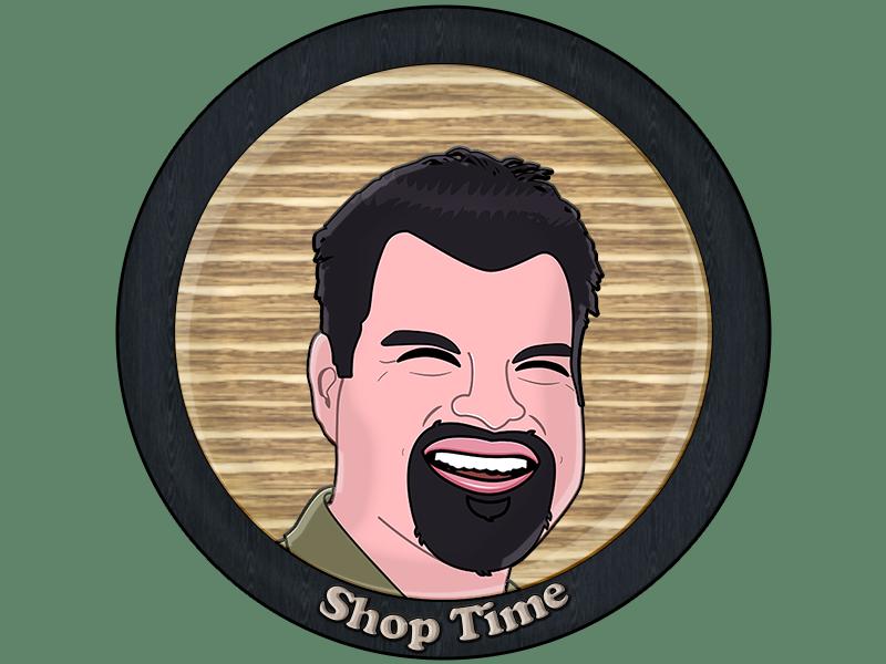 Shop Time Logo Dribbble logo cartooning cartoon vector illustration illo practice