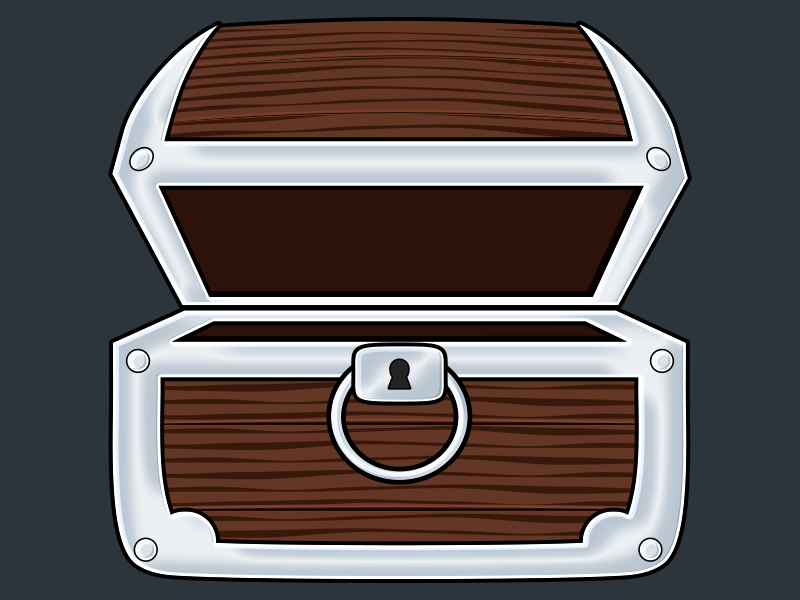 Open Chest Dribbble treasure chest asset