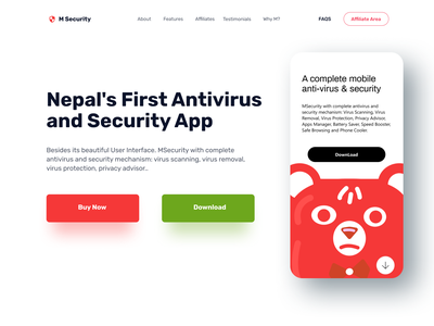 Security App & Website Landing Page Design landing page header design landing page header design ui security vpn header design