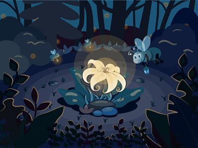 lights for fireflies design fireflies lights vector illustration