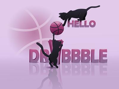 Hello dribbble dribbble hello dribble design vector illustration