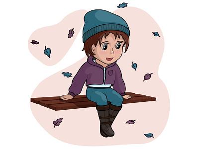 A character for social network design girl design illustration