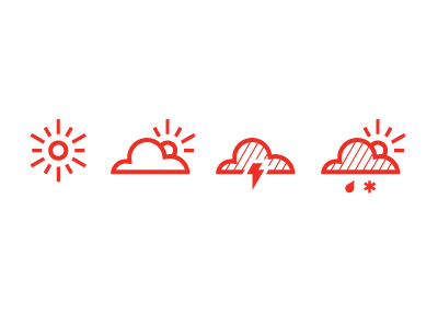 Weather Icons weather icon sun cloud lightning snow rain climate