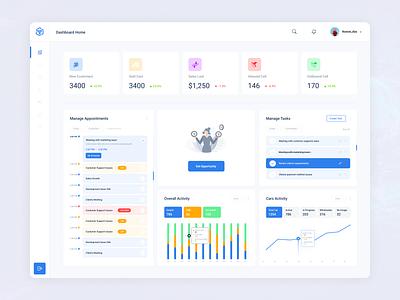 Sales Management System ecommerce app customer sales dashboard task management admin dashboard crm portal dashboard design crm