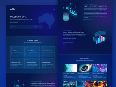 DataAU Website Concept website concept web design ui  ux landing page website web website design data