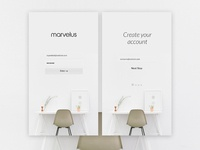 Marvelus - Apps Login/signup screen