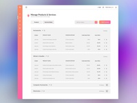 CRM Dashboard (Product & Service Screen)