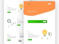 FindParrot homepage design