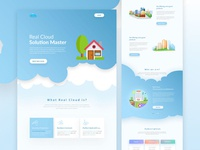Real Cloud Landing page