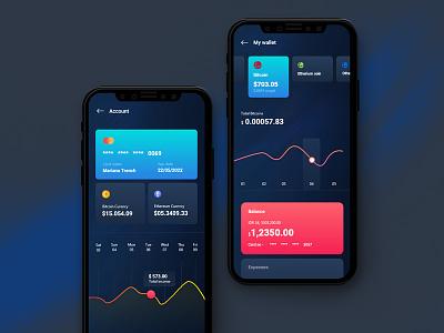 Kryptic   Finance iOS App app banking ui iphonex financial wallet app finance ios