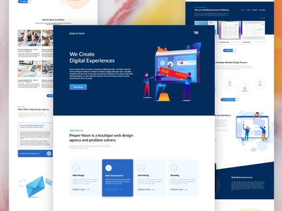 Agency Landing page business corporate design ui design web agency landing page organization team corporate website business website landingpage agency website web design website