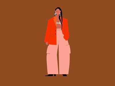 Alicia Keys character archetype design illustration