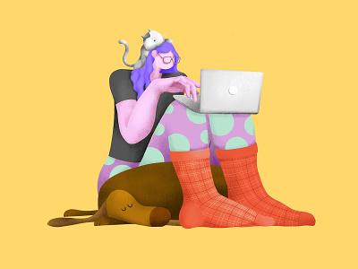 Chillin' weirdo vector design archetype illustration character