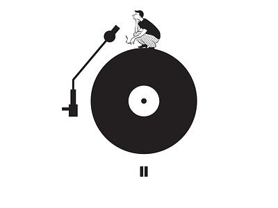 How we should enjoy music - illustration print archetype branding design illustration character