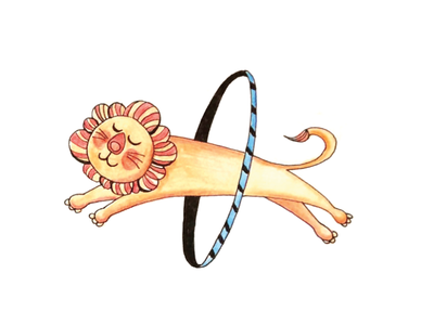 Exercise illustration character lion