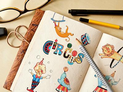 Circus illustration vietnam character illustration