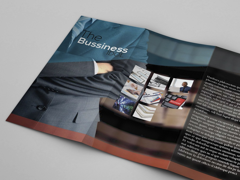 Tri-Fold Business Brochure freebie [INDT & EPS] free file indesign illustrator freebie personal use only