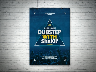 1Hour Online Dubstep with Shakil flyer