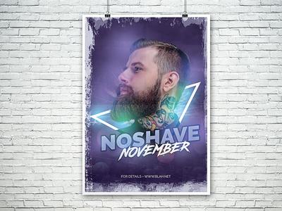 NoShave November Flyer