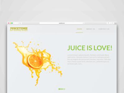 JuiceTime Website Template