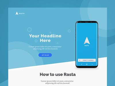Rasta Landing Page Design
