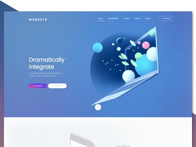 MARKETR Website User Interface Design