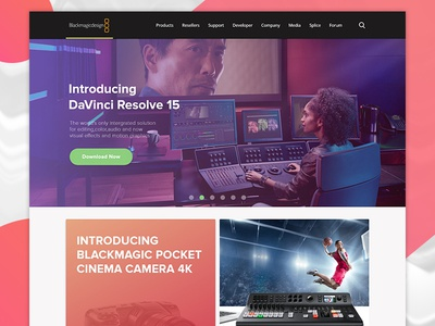Blackmagic Web User-Interface Redesign