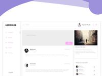 Socialbug Web App Ui Design template website design ux ui ui ux design bug social adobe xd user interface ux design ui design