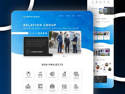 Relation Group UI Design landing page web template illustration website web development softopark web design it company ui designer ui  ux uiux