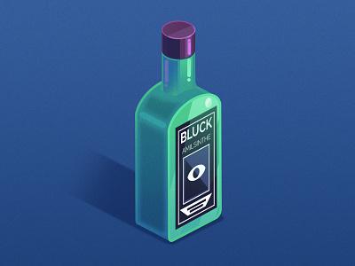 Bottle illustration containment corona covid19 blue black label 3d bluck vector green alcohol drink illustration illustrator bottle