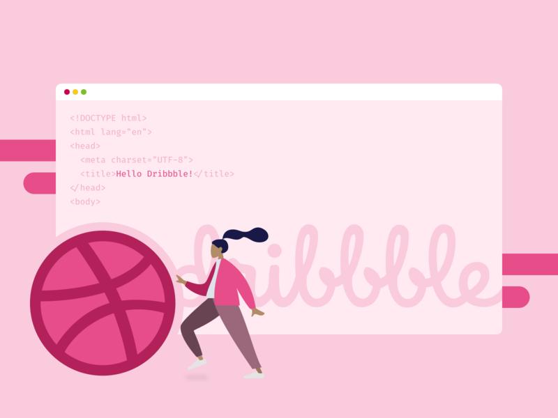 Hello Dribbble! hello dribbble code ui