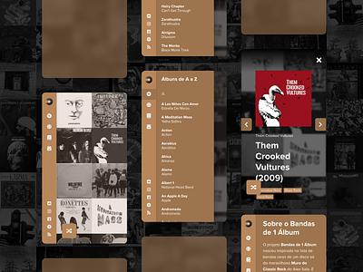 Bandas de 1 Álbum Mobile Design one album wonder albums rock music ui design mobile
