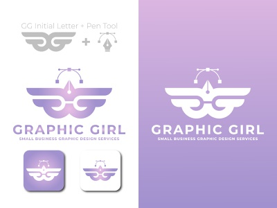 Graphic Girl graphic design art branding vector minimal logo illustration icon flat design