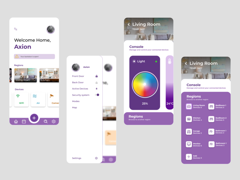 Home Automation home automation purple typography vector icon app minimal ux ui design