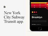 New York City subway transit app concept
