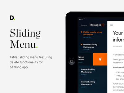 Sliding menu mobile app hamburger menu orange delete mobile application banking tablet menu sliding menu
