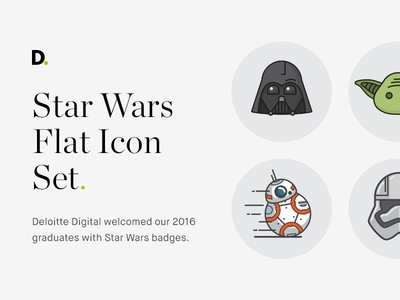 Star Wars flat icon set iconography storm trouper yoda bb8 darth vader flat icon set icon icons star wars