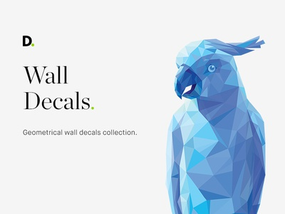 Geometrical wall decals icon illustration fox bear parrot geometry wall decals geometrical