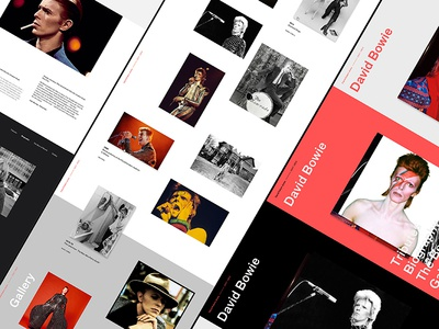 Tribute to David Bowie, website concept type typography site tribute david bowie desktop website concept music bowie