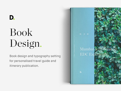 Book design, travel publication itinerary hyderabad mumbai india travel guide print type setting typography setting publication travel design book