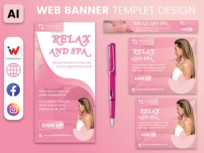 SPA Web Banner Templet artwork marketing mixtapecover logodesigns businesscards art poster designer logodesign
